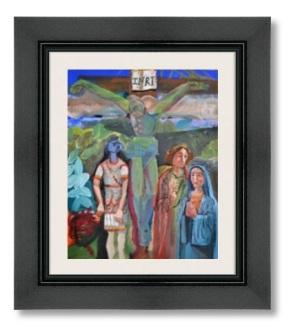 crucifixion 49mm blck paint