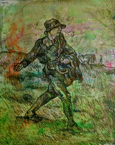 the_sower_after_van_gough_mike_quirke_